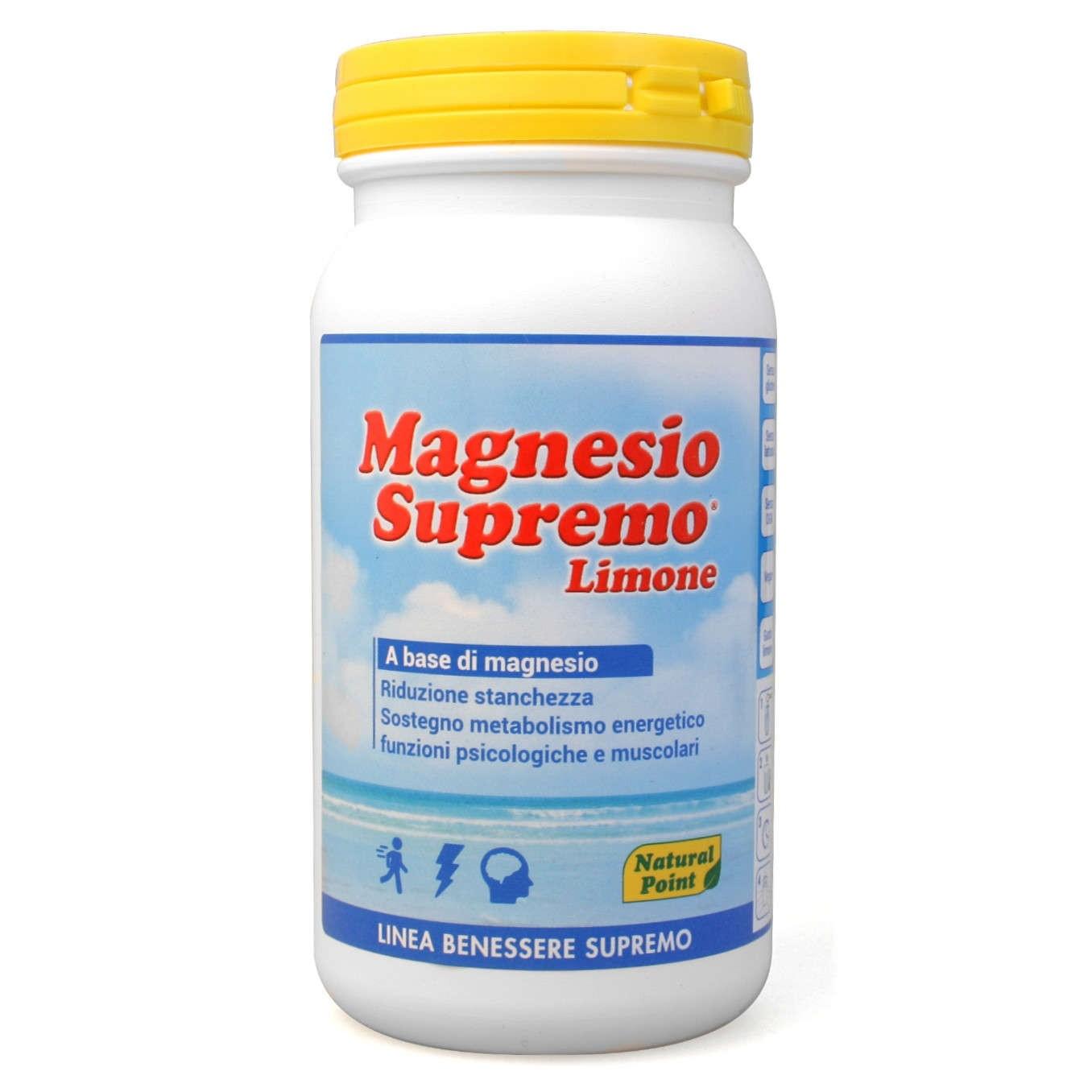 Natural Point Magnesio Supremo Lemone in Polvere 150 g