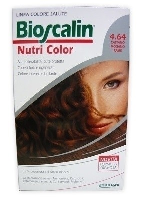 Bioscalin nutri color 4,64 castano mogano rame 124 ml