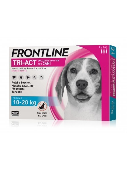 Frontline Triact Spot On 3 Cani 10-20Kg 3 Pipette