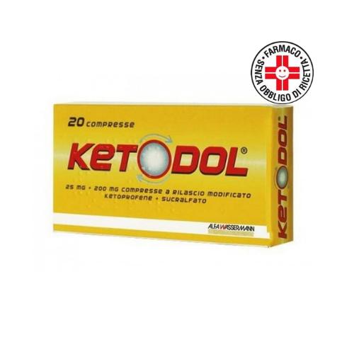 Ketodol*20 compresse 25mg+200mg a rilascio modificato