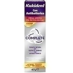 Kukident complete crema adesiva per protesi dentarie con antibatterico 47 g