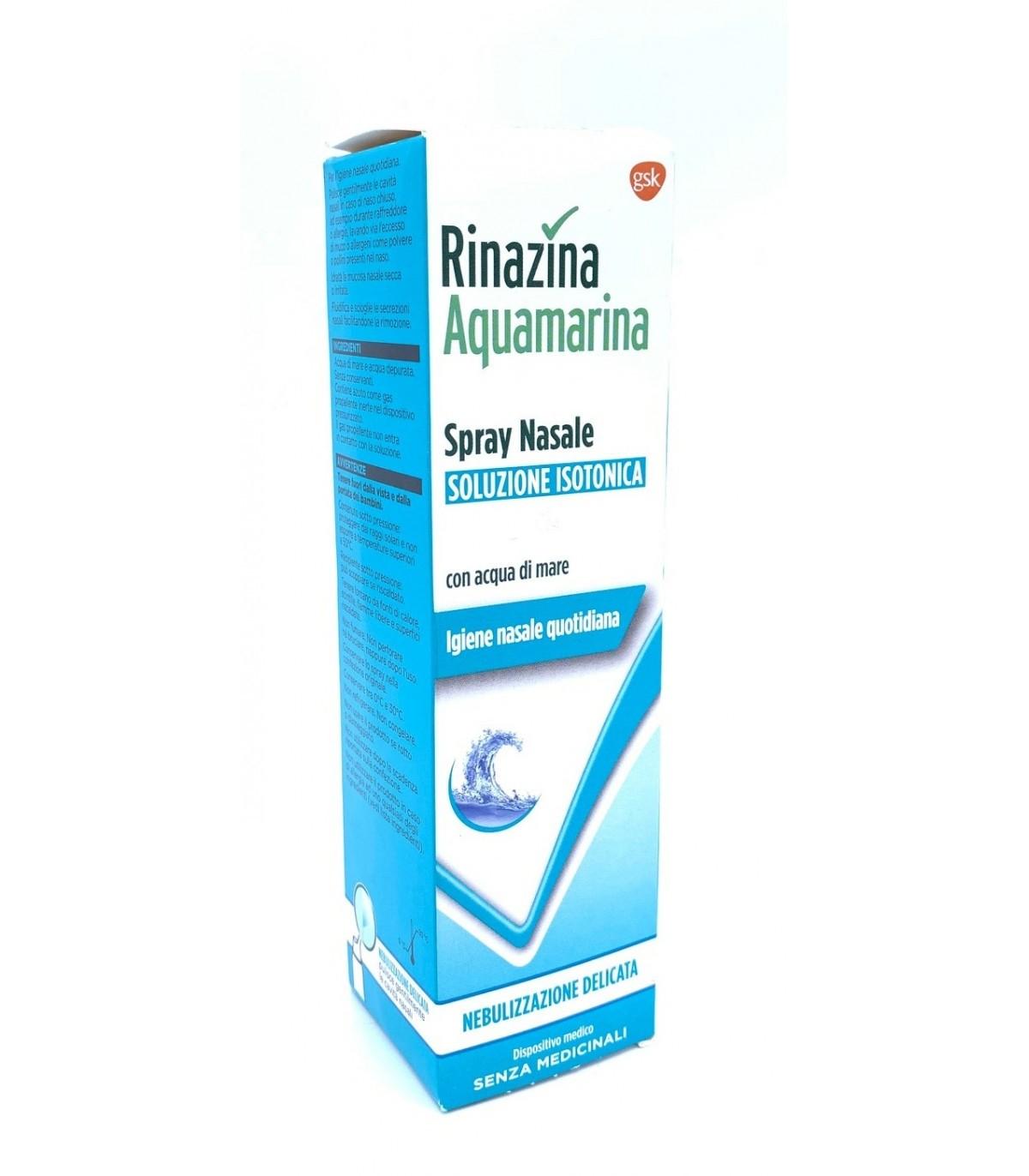 Rinazina Acquamarina Spray Nasale acqua di mare 100ml