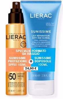 Lierac Bundle Sunissime Travel Latte Spray spf50 100ml+Doposole 100ml