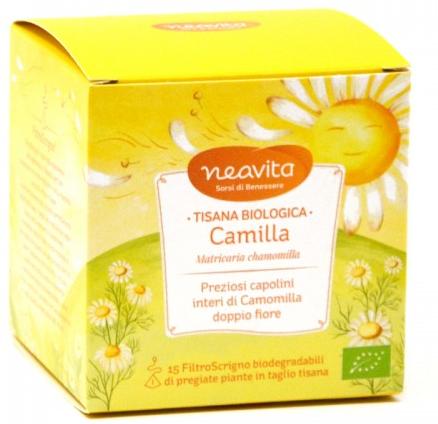 Neavita Tisana Biologica Camilla a Base di Camomilla 15 filtri  da 1,5 g