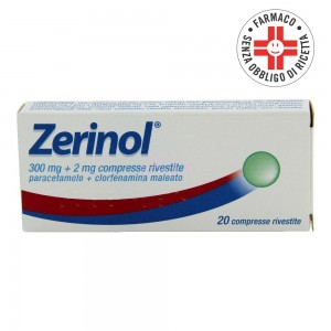 Zerinol* 20 compresse rivestite 300mg+2mg