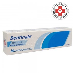 Dentinale* pasta gengivale 25 g 0,5% + 0,5%