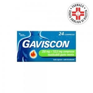 Gaviscon* 24 Compresse masticabili menta 250+133,5mg