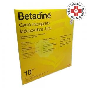 Betadine* 10 Garze Impregnate 10% 10x10