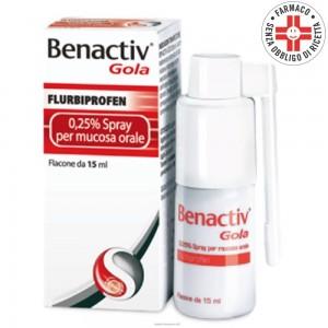 Benactiv Gola* spray mucosa 15ml 0,25%