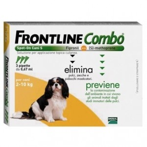 Frontline Combo Spot-On Cani 2-10 Kg 3 pipette 0,67ml