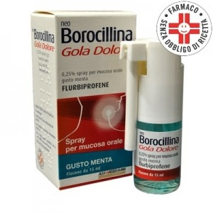 Neoborocillina Gola Dolore* Spray 15ml Gusto Menta