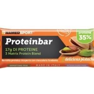 Named Proteinbar delicious pistachio 50g.