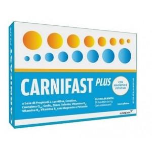 Carnifast plus 20 bustine 6 g gusto arancia