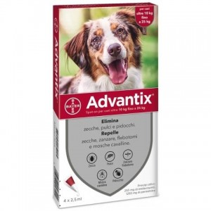 Bayer Antiparassitario Advantix Spot-on cani 10-25kg 4 pipette