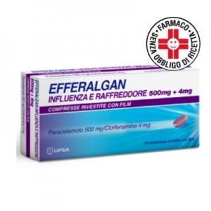 Efferalgan Influenza e Raffreddore 500 mg + 4 mg 16 compresse rivestite