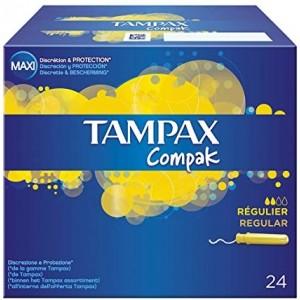 Tampax compak regular 24 pezzi