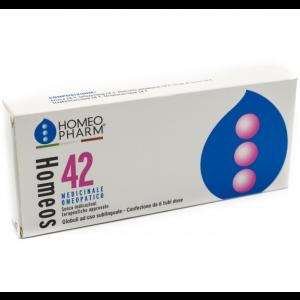 Homeos 42 medicinale omeopatico  6 tubi monodose