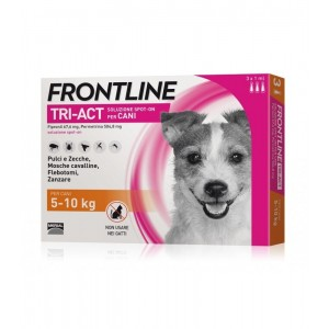 Frontline Tri Act Spot On Cani 5-10Kg 3 pipette 1 ml