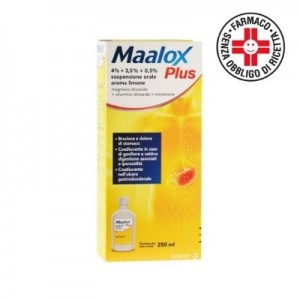 Sanofi Maalox Plus Sospensione Orale aroma limone 250ml
