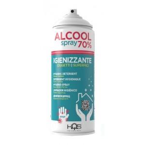 Hqs igienizzante oggetti e superfici alcol 70% spray 400 ml