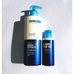 Isdin Pack Ureadin Gel da Bagno Idratante Pelle Normale e Secca 400 ml + Lozione Corpo Idratante 100 ml in omaggio