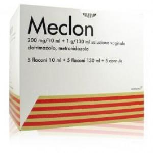 Meclon*soluzione vaginale 5 flaconi 200 mg/10 ml + 1 g/130 ml