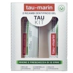 Tau marin dentifricio rinfrescante ricarica tau kit 2x20ml